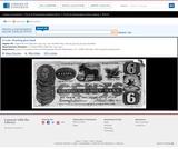 6 Cents. Humbug Glory Bank