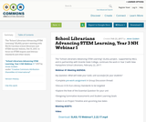 School Librarians Advancing STEM Learning, Year 3 NH Webinar 1