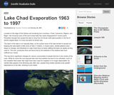 Lake Chad Evaporation 1963 to 1997