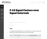Equal Factors Over Equal Intervals