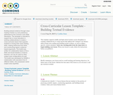Cross-Curricular Lesson Template - Building Textual Evidence