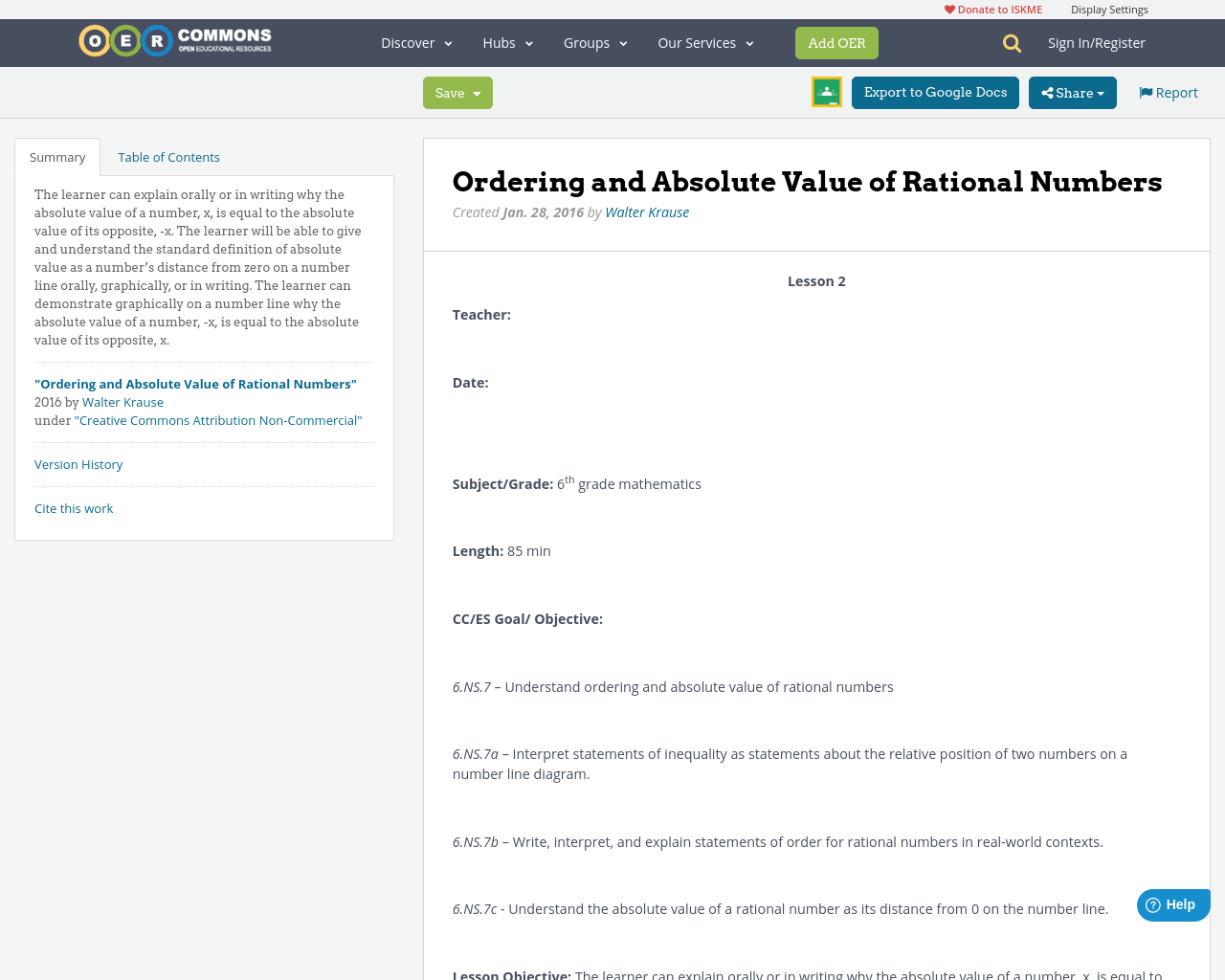 Ordering and Absolute Value of Rational Numbers – Ordering Rational Numbers Worksheet