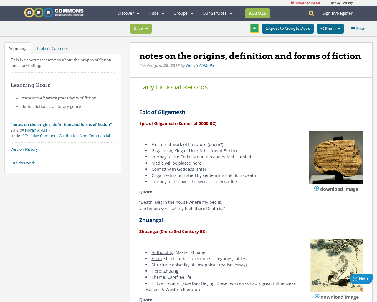 epic of gilgamesh essay notes on the origins definition and forms  notes on the origins definition and forms of fiction oer commons