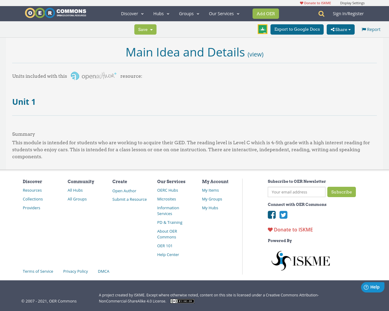 Workbooks main idea supporting details worksheets : Main Idea and Details | Unit 1 | OER Commons