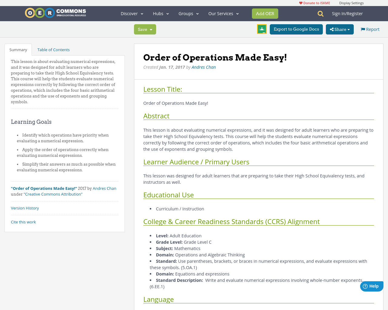 Order of operations made easy oer commons biocorpaavc Choice Image