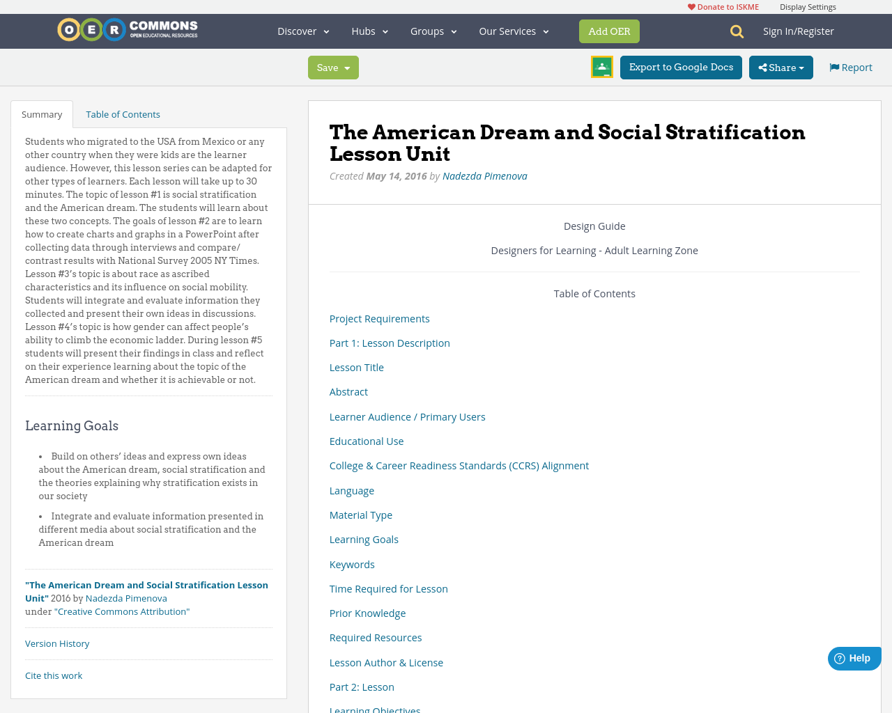 the american dream and social stratification lesson unit oer commons