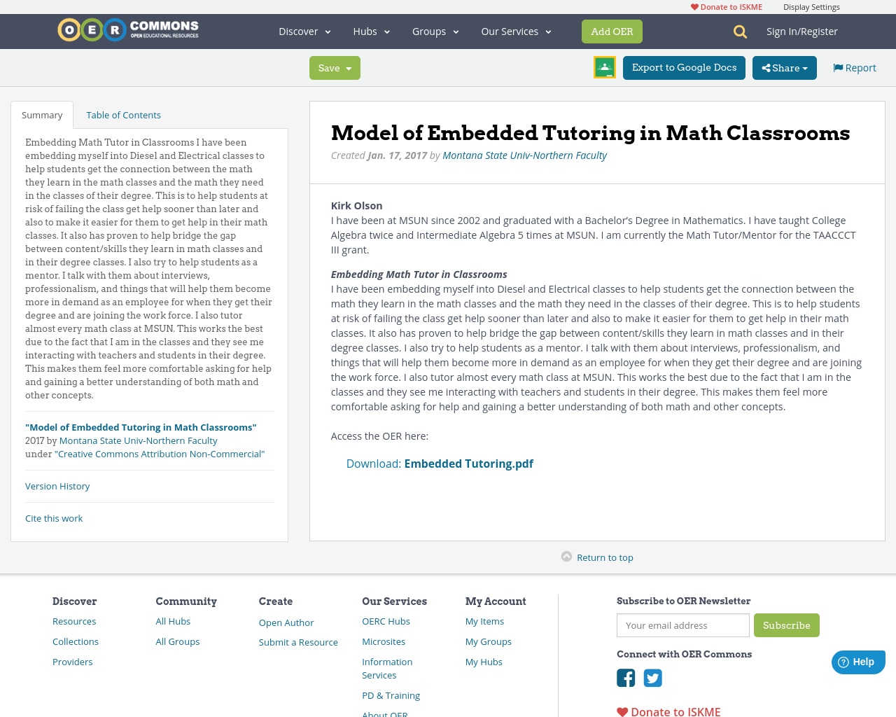Model of Embedded Tutoring in Math Classrooms | OER Commons