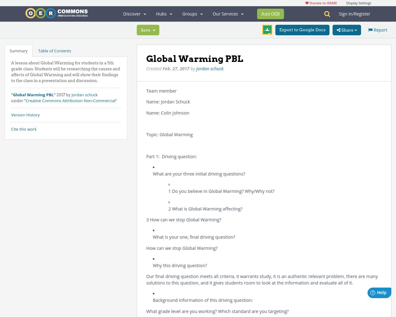 Media Global Warming: Global Warming PBL