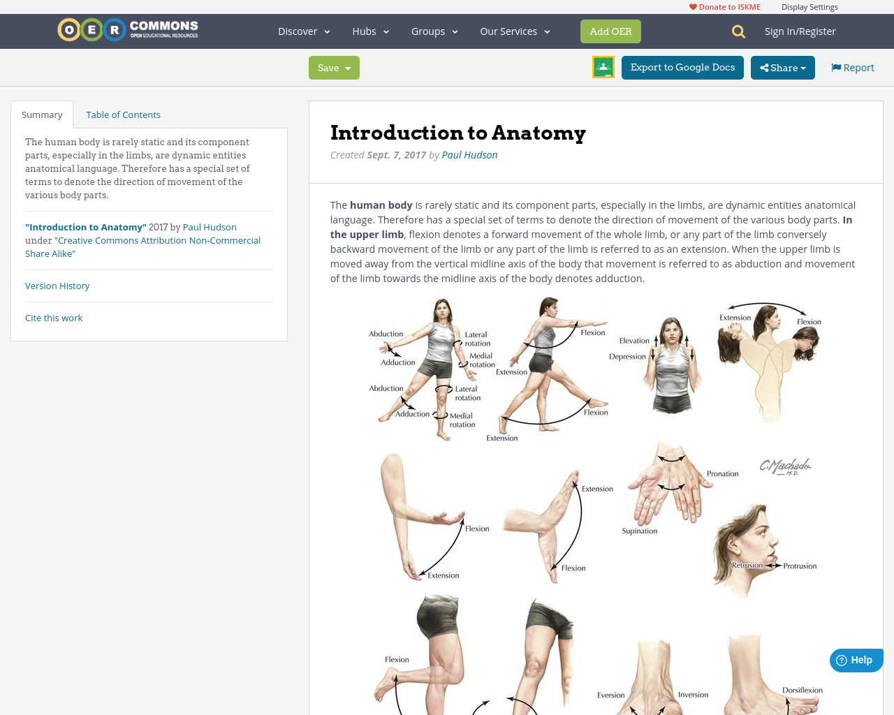 Introduction to Anatomy | OER Commons