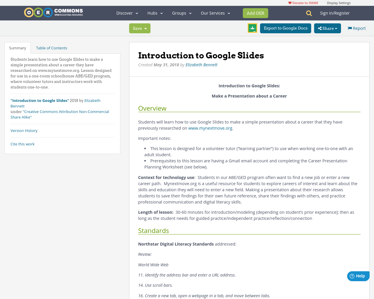 introduction to google slides oer commons