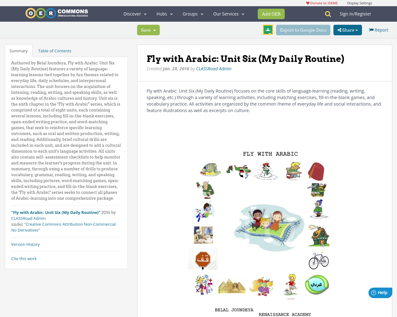 fly arabic unit six my daily routine oer commons
