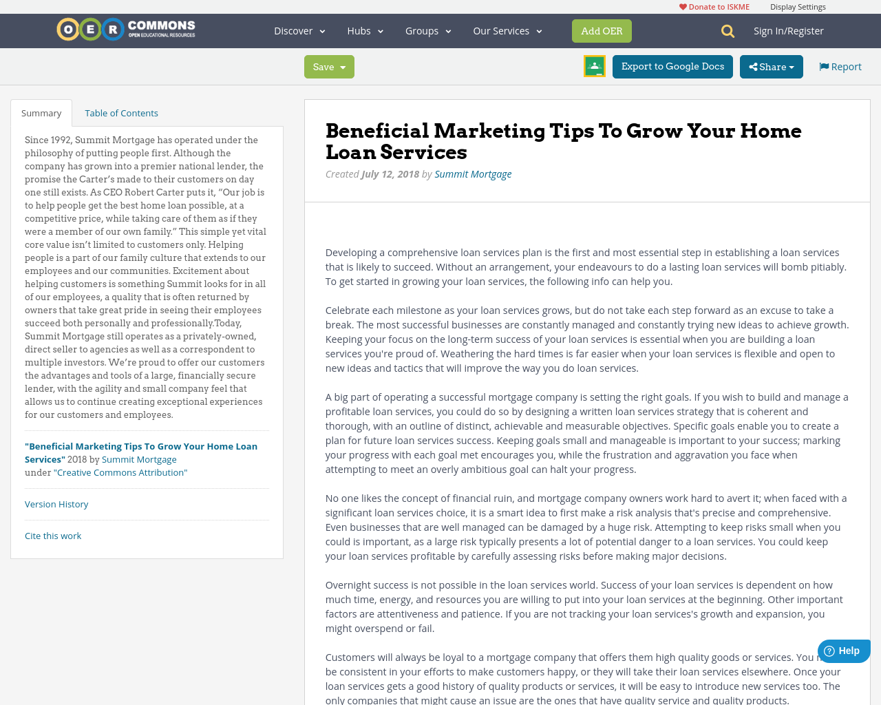 Beneficial Marketing Tips To Grow Your Home Loan Services - OER Commons