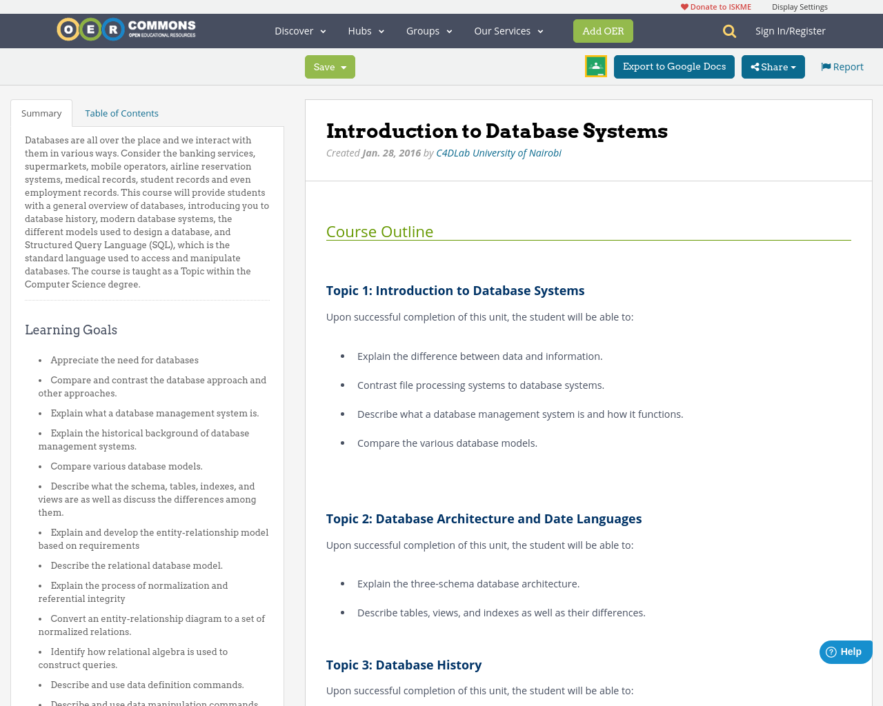 Introduction to database systems oer commons baditri Image collections