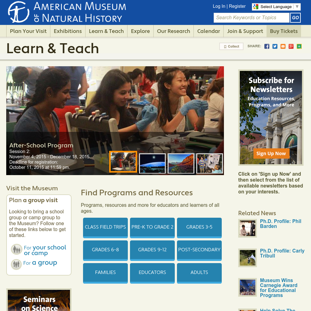 American Museum Of Natural History Science Courses